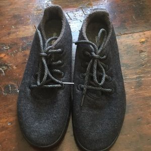 Allbirds wool runners natural black 9 men/10.5 gal